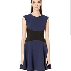 Kate Spade Color Block Crepe Dress Size 14